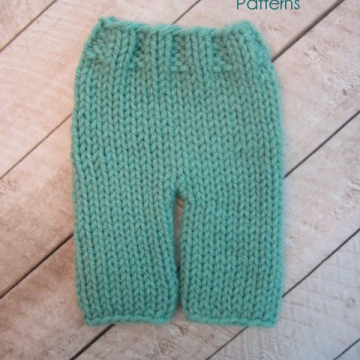 Knitting Pattern Baby Pants | Easy Knit Pants | 3 Sizes