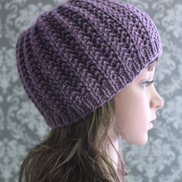 Knitting Pattern Ribbed Hat | Easy Ribbed Beanie