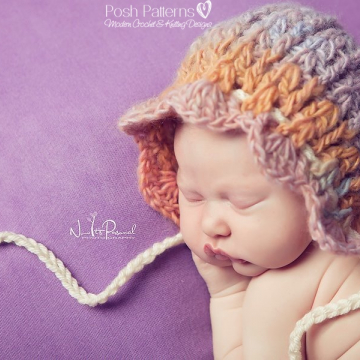 Bonnet Crochet Pattern | Vintage Pixie Hat
