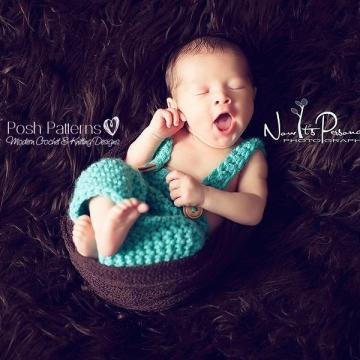 Baby Suspender Pants Crochet Pattern | Nerd Photo Prop