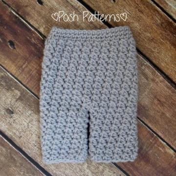 Baby Pants Crochet Pattern   Pants Pattern   4 Sizes
