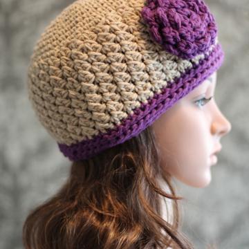 Crochet Hat Pattern | Beanie and Flower Crochet Pattern