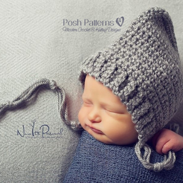 Crochet Bonnet Pattern | Pixie Hat Crochet Pattern