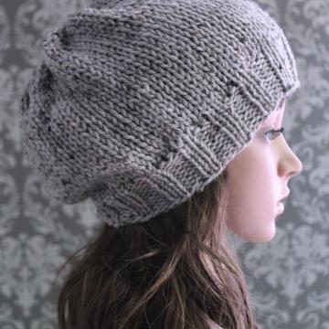 Slouchy Hat Knitting Pattern | Knit Slouchy Hat Pattern