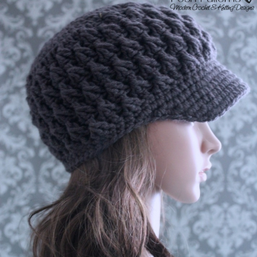 Crochet Pattern Newsboy Hat | Visor Hat Pattern