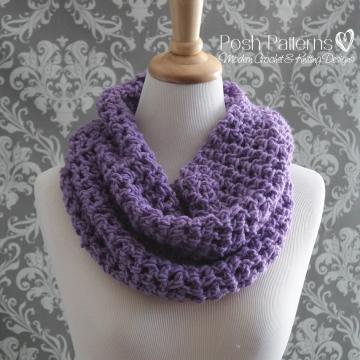 Crochet Cowl Pattern | Easy Infinity Scarf Pattern