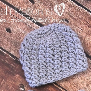 Crochet Pattern | Textured Shell Beanie | Crochet Hat
