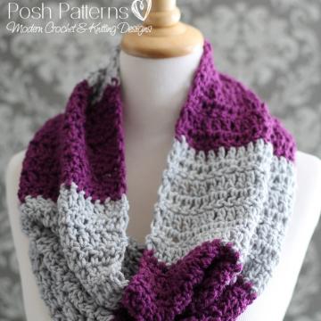 Cowl Crochet Pattern | Infinity Scarf | Circle Scarf