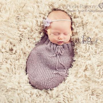 Newborn Swaddle Sack Knitting Pattern