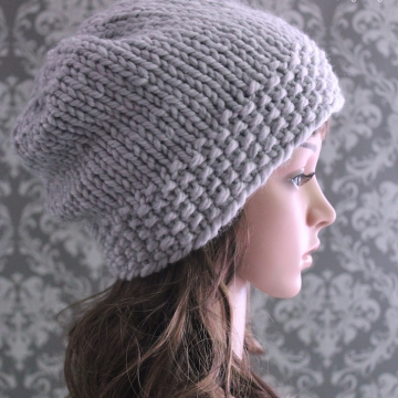Slouchy Hat Knitting Pattern - Knit Slouchy Hat