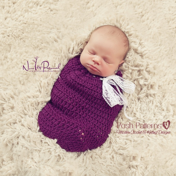 Crochet Cocoon Pattern - Newborn Swaddle Sack