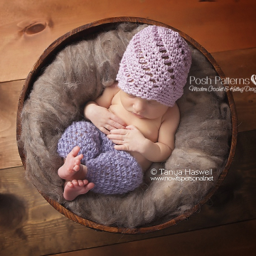 Crochet Pattern | Eyelet Rib Crochet Hat Pattern