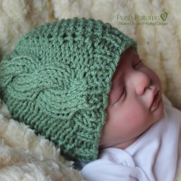 Cable Hat Knitting Pattern - Knit Cable Beanie