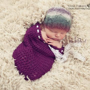 Knitting Pattern Butterfly Beanie - Knit Hat Pattern