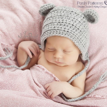 Mouse Baby Bonnet Crochet Pattern - Crochet Mouse Hat
