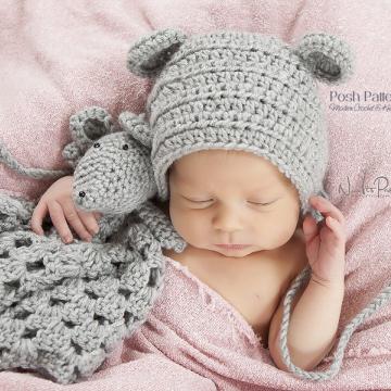 Mouse Lovey Crochet Pattern | Mouse Toy Pattern