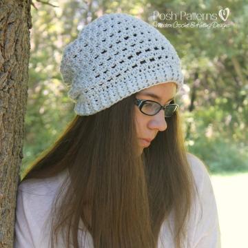 Crochet Slouchy Hat Pattern - Slouchy Hat Pattern