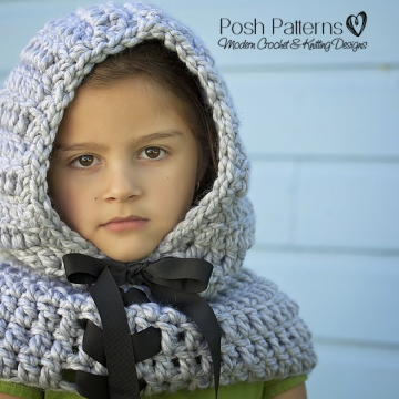 Easy Hooded Cowl Crochet Pattern - Crochet Scarf