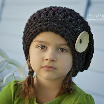 Slouchy Hat Crochet Pattern - Beret Pattern