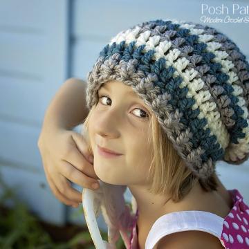 Crochet Slouchy Hat Pattern - Beret Pattern