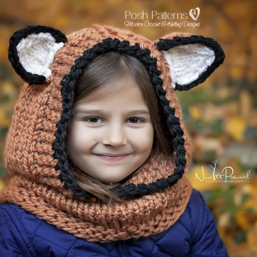 Fox Hooded Cowl Knitting Pattern