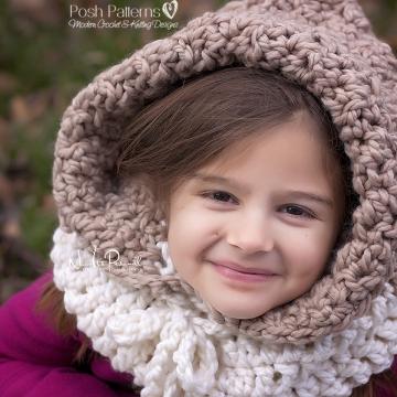 Hooded Cowl Crochet Pattern - Scarf Pattern