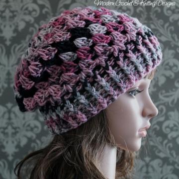 Slouchy Hat Crochet Pattern - Shell Stitch Hat