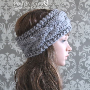 Cable Headband Knitting Pattern - Knit Cable Ear Warmer