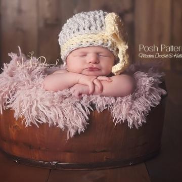 Big Bow Hat Crochet Pattern - Girls Hat Pattern