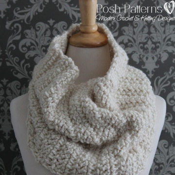 Cowl Crochet Pattern - The Madison Cowl Crochet Pattern