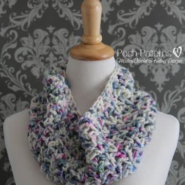 Crochet Cowl Pattern - Infinity Scarf Pattern - The Adeline Cowl
