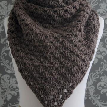 Crochet Pattern - Triangle Scarf Pattern - Cowl Pattern