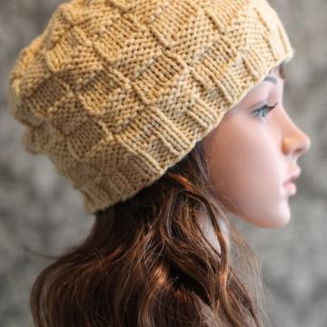 Basket Weave Hat Knitting Pattern  | Beanie Pattern