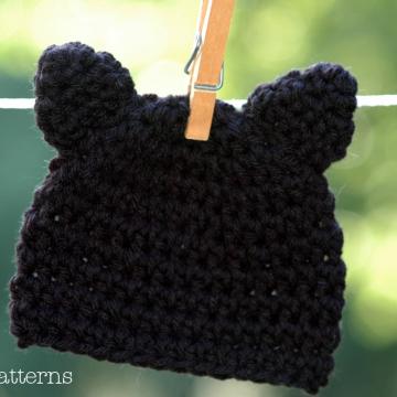 Crochet Pattern Kitty Cat Hat | Crochet Hat Pattern