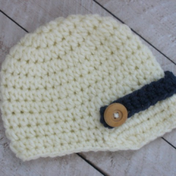 Crochet Newsboy Hat Pattern | Easy Beanie Pattern