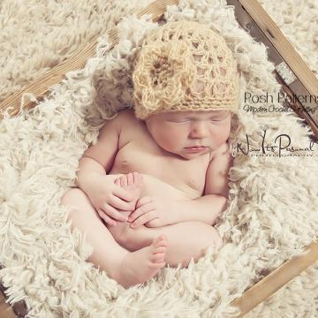 Crochet Baby Hat Pattern - Lace Beanie