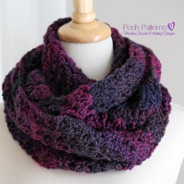 Crochet Infinity Scarf Pattern - Elegant Cowl
