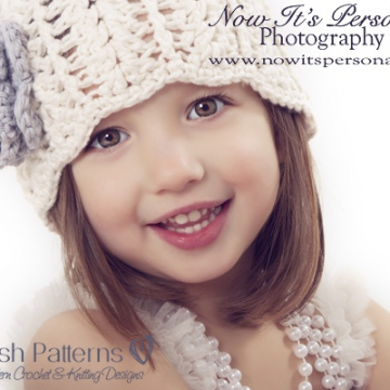 Girls Hat Crochet Pattern - Crochet Flower Pattern
