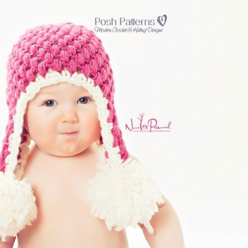 Puff Stitch Hat Crochet Pattern - Crochet Earflap Hat
