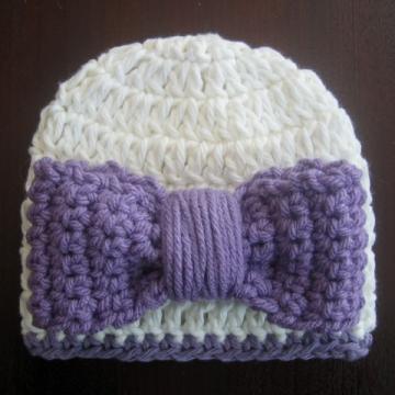 Easy Bow Beanie Crochet Pattern | Crochet Hat Pattern